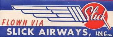 Slick Airways  (Fictional Airline)